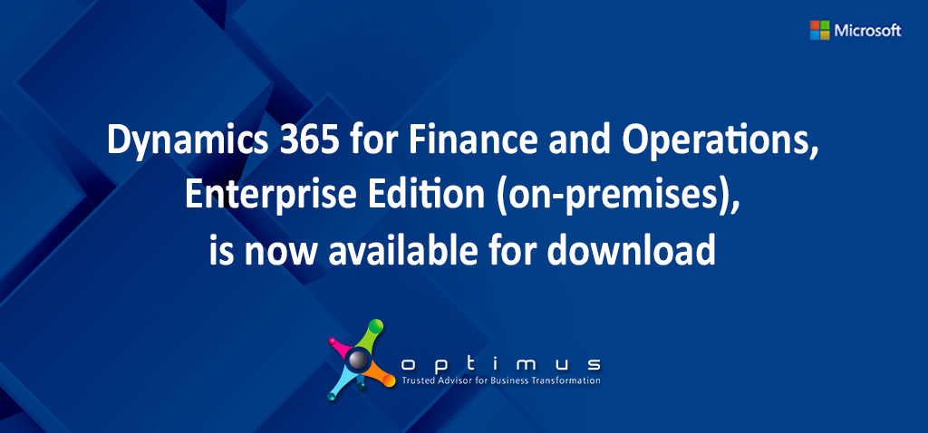 Dynamics 365 for Finance and Operations, Enterprise Edition